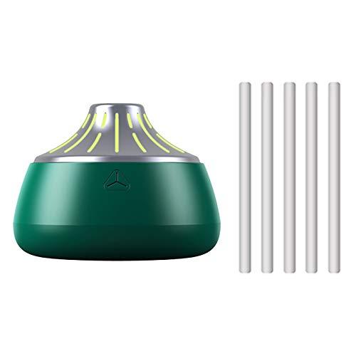 Humidificadores, Humidificadores con Aceites Esenciales, Pequeño Nano Humidificador USB, Exquisito Y Lindo, Dos Modos De Rociado, Novia, Hija, Madre, Novi(Color:Verde-Plata)
