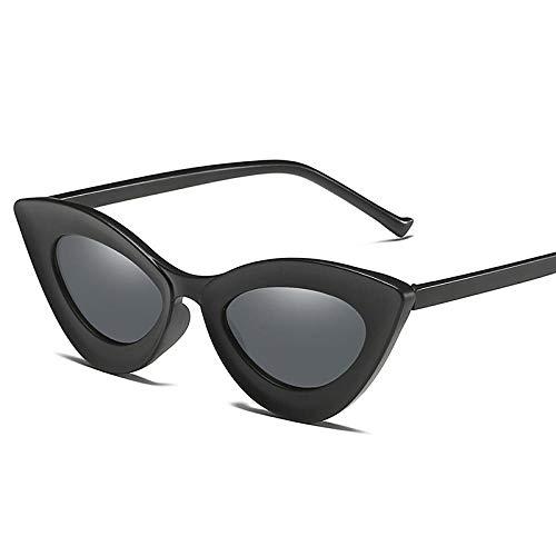 Occhiali da Sole Occhiali da Sole Donne Cat Eye Moda Retro Donne Vintage Adatto per Escursionismo Golf Pesca Occhiali da Sole-Matte Nero Grigio.