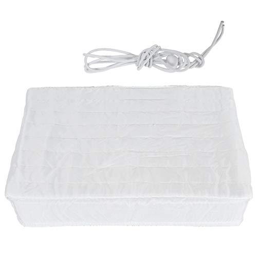 Omabeta Cubierta Blanca de Aire Acondicionado para Interiores Tela de Doble Aislamiento Cubierta de protección de Unidad de Aire Acondicionado elástica a Prueba de Polvo(63 * 43 * 7cm)