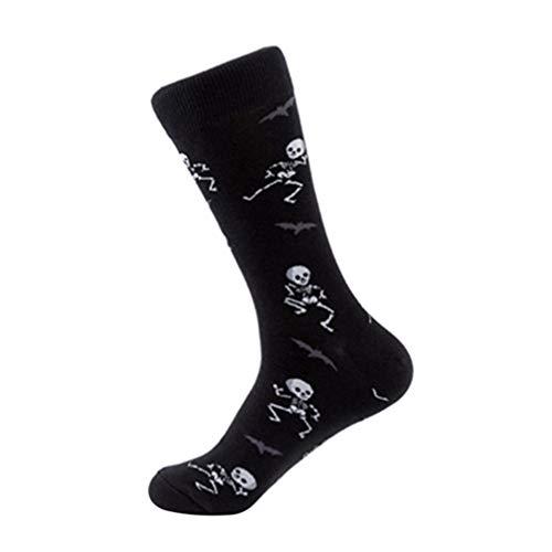 Amosfun halloween baumwollsocken skelett socken neuheit lustige socken halloween party favorisiert lieferungen für frauen männer