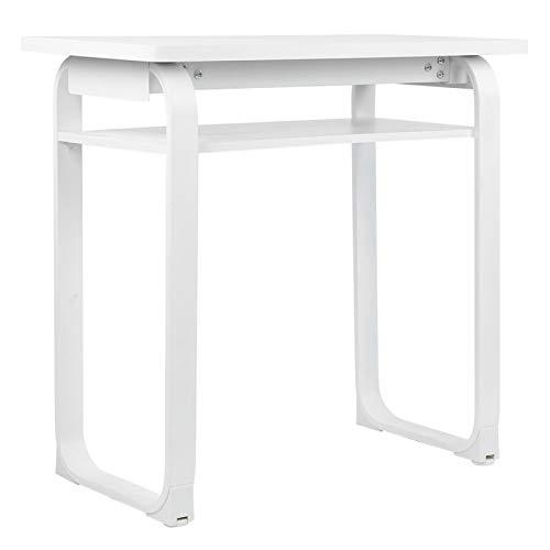 Mesa de escritorio, mesa de ordenador de tubo de acero MDF de alto espesor resistente a arañazos de escritorio moderno para oficina en casa