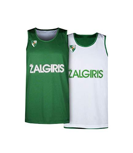 BC Zalgiris Kaunas Camiseta de Baloncesto Reversible para Hombre, Hombre, 1848, Verde,...