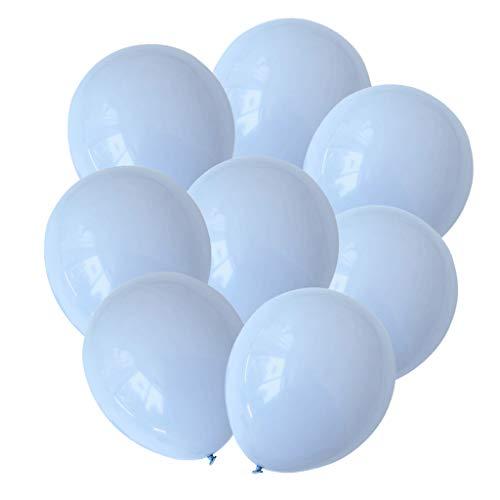 Sharplace 30 Pièces Ballon de Latex Couleur Macaron Décoration pour Fête d'anniversaire Mariage Douche Bébé - 10'' - Bleu 2