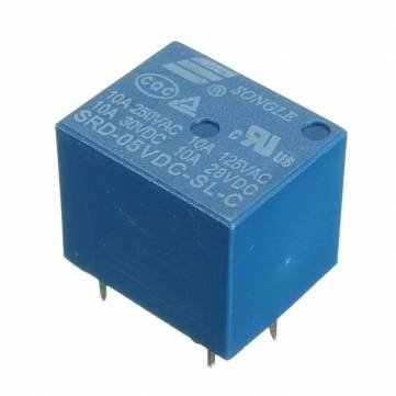 Relè 5V Relay 5Vdc 10A SRD-05VDC-SL-C adatto a circuito stampato