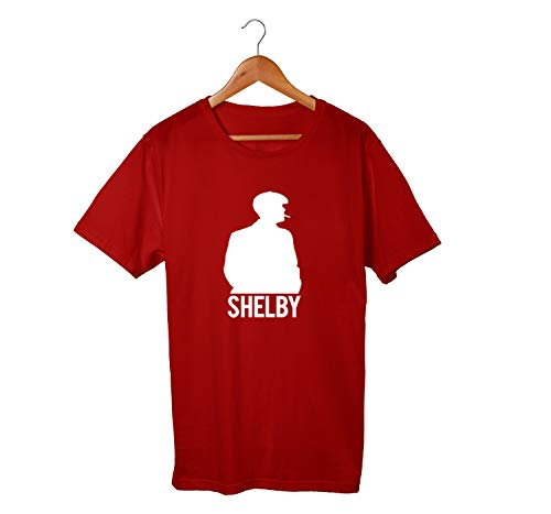 Camiseta Unissex Serie Peaky Blinders Shelby Netflix 100% Algodão (Bordô, GG)