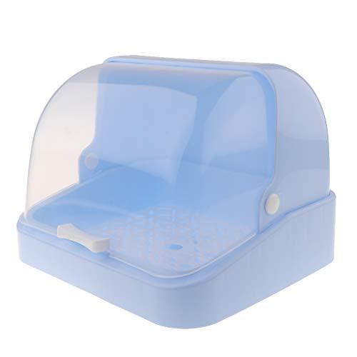 Fityle Baby Bottle Drying Racks with Anti-dust Cover - Nursing Bottle Storage Box - Dinnerware Organizer - Blue, 30 x 26.5 x 22cm California