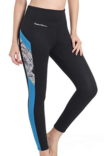 Wetsuit Pants Women Swim Tights 2mm Neoprene High Waisted Outdoor Water Sport Leggings Keep Warm for Surfing Diving Snorkeling Swimming Canoeing Sailing Paddling (Black, XL)