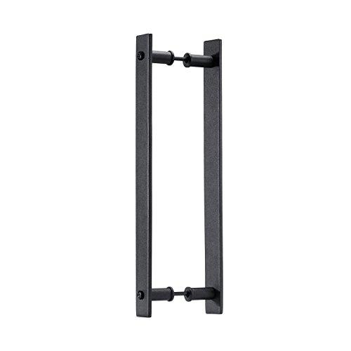 Toprema - Tirador de puerta de madera (35,56 cm), color negro