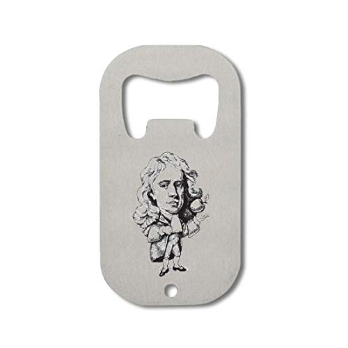 Atprints Isaac Newton Famous Scientist Apple Artwork Apribottiglie in Acciaio Inossidabile