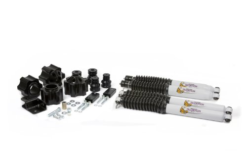 """Daystar, Jeep JK Wrangler 3"""" Lift Kit with bump stop extensions, track bar bracket, and front and rear shocks, fits 2007 to 2017 2/4WD, all transmissions, KJ09153BK, Made in America"""