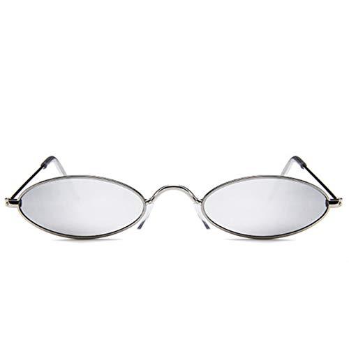 jingshou396 Gafas de Sol ovaladas Vintage, pequeños Marcos de Metal, Gafas góticas de diseñador, protección UV