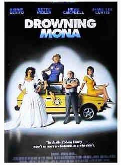 DROWNING MONA (2000) Original Authentic Movie Poster 27x40 - Double-Sided - Danny DeVito - Bette Midler - Neve Campbell - Jamie Lee Curtis