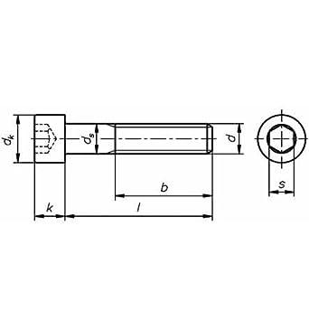 Reidl Zylinderschrauben mit Innensechskant 10 x 10 mm DIN 912 10.9 blank 1 St/ück