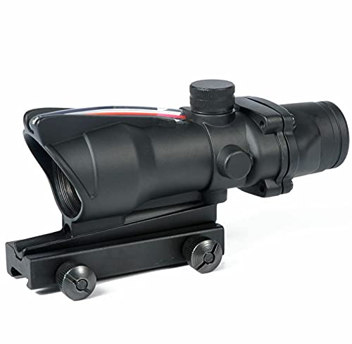 fendensen 4x32 Rifle Scope Real Fiber Optics Red Illuminated Rifle Scopes