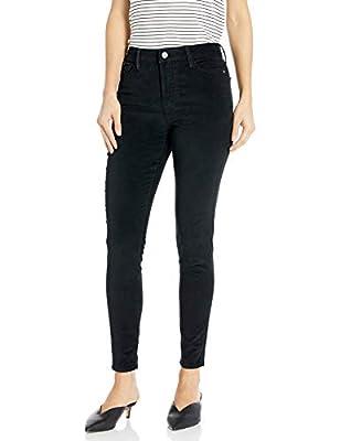 Sanctuary Women's Social Standard High Rise Skinny Jean, Black Velvet, 34