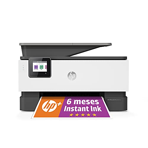 HP Impresora Multifunción OfficeJet Pro 9012e - 6 meses de impresión Instant Ink con HP+