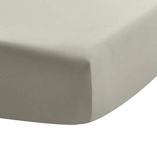UMI Lenzuolo Con Angoli 400 Fili - Lenzuolo In Puro Cotone, Design Profondo Con Bordi Elasticizzati, Cachi, 180X200 Cm