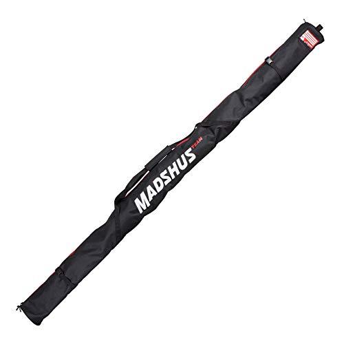 Madshus Unisex– Erwachsene Langlauf SKI Bag 1-2 Pairs Farbe: black-white-18D4501.1.1.1SIZ Tasche, black-white, 1SIZ