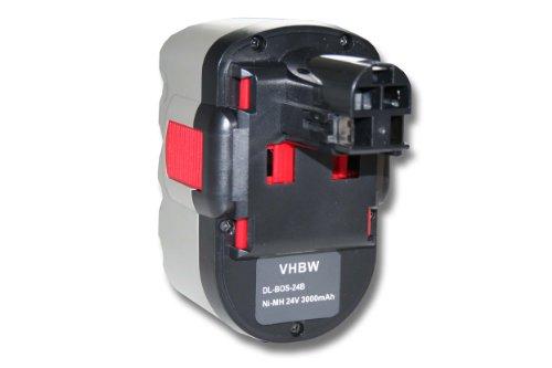 vhbw NiMH batería 3000mAh (24V) para herramienta eléctrica powertools tools Bosch GSB 24VE-2, GSR 24VE-2, GST 24V, PSB 24VE-2, SAW 24V