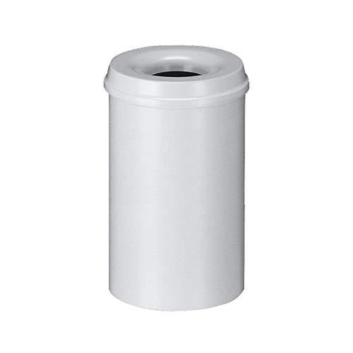 V-Part Corbeille à papier en métal Gris 20 litres