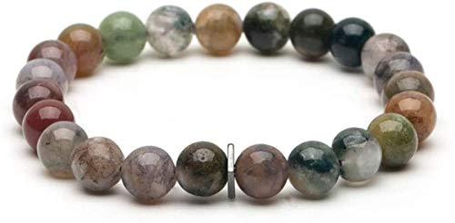 XIAOGING Pulsera de Piedra Mujer, 7 Chakra Perlas de Piedra Natural Colorido Turmalina Brazalete Elástico Joyería Yoga Inspiración Ora Inspiración Energía Encanto Difusor Pulsera Hombres para Regalo