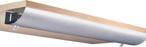 Eisnhauer® Kabelwanne abklappbar, 1160 mm lang, für Schreibtische im Büro/Home-Office gegen den Kabelsalat am Arbeitsplatz