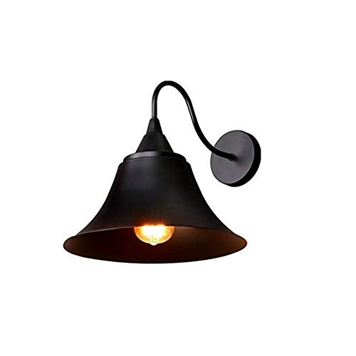 WEILAI Cosecha de América cuello de cisne Luz a la pared Loft retro del metal industrial aplique de la pared de la lámpara Montado en Superficie de Hierro Negro Pantalla con E27 zócalo for House Resta