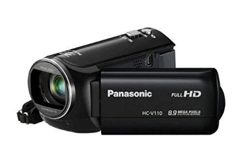 Panasonic HC-V110EG-K Videocamera, Sensore MOS 8.9 Mp, Full HD, Zoom Ottico 38x, Zoom Interno 72x, USB 2.0, Nero