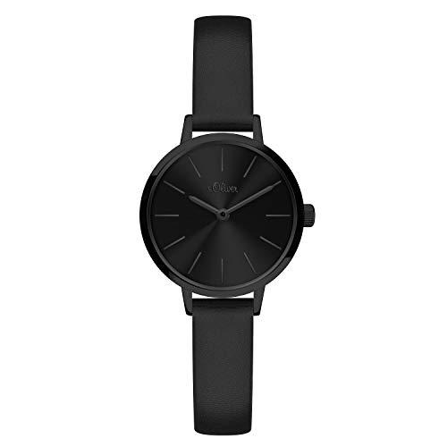 s.Oliver Damen Analog Quarz Armbanduhr mit Kunstleder SO-4143-LQ