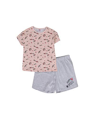 LC WAIKIKI Conjunto de pijama de algodón para niña con pantalones cortos. Rosa. 4-5 Años