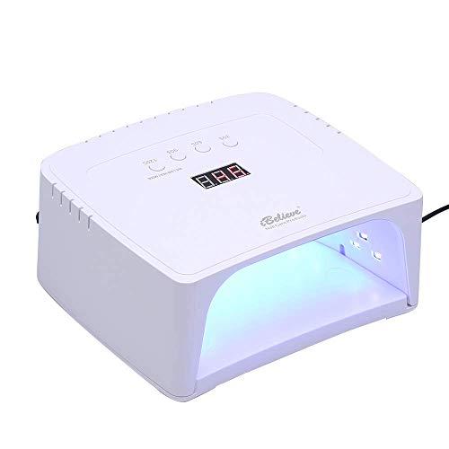 UV Lampe, Anself 48W / 60W Nageltrockner Gelpolierlicht, mit 4 Timer Einstellung Automatischer Infrarot Sensor, LCD Display, Geeignet für alle Gel, für Fingernagel und Zehennagel