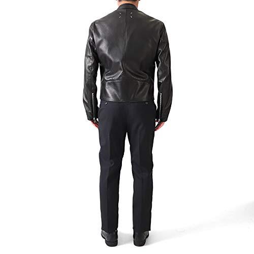 MaisonMargielaメゾンマルジェラ八の字5ZIPライダースジャケットS50AM0489SY1460ラムレザーシングルメンズ【46(M)-Black(900)】