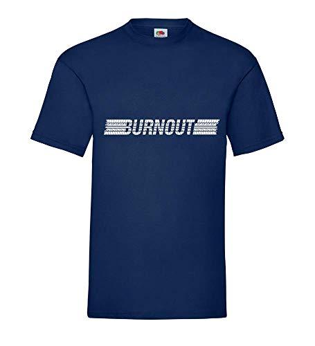 Reifen Burnout Männer T-Shirt Navy 3XL - shirt84.de