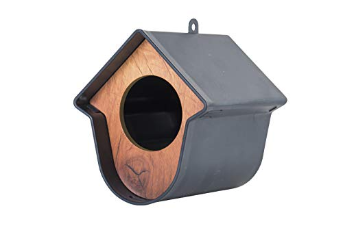 Evie Grey Garden Mangeoire pour Oiseaux Sauvages Un Seul Qui Peut contenir Un Pot Standard pour Le Beurre d'arachide