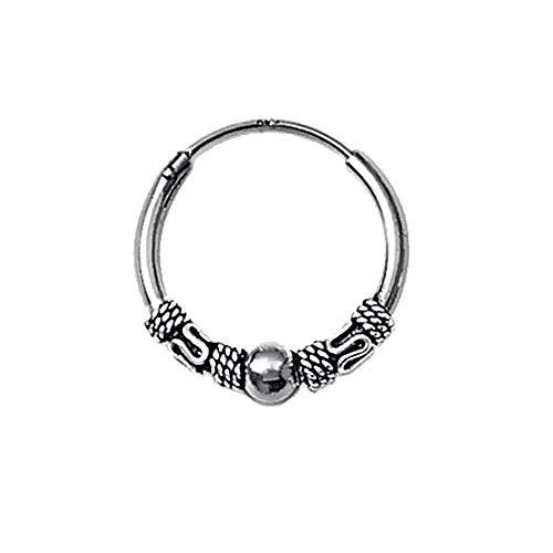 NKlaus 925 Silver Single Earring Celtic CREOLE Gothic Celtic Bali SINGLE 20mm 5048