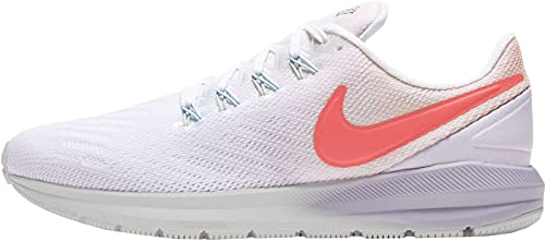 Nike Womens Air Zoom Structure 22 Running Trainers CW2640 Sneakers Shoes (UK 5.5 US 8 EU 39, Washed Coral Magic Ember White 681)