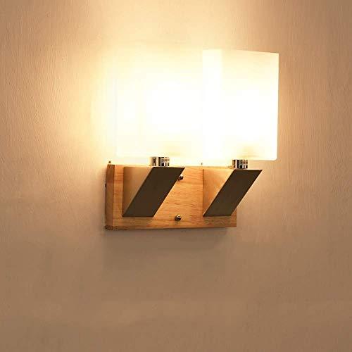 Busirsiz Nordic sólido Simple Vaso de Madera E14 Lámpara de Pared Moderna Sala de Estar Focos de Pared de luz Estudio Creativo Dormitorio de la luz de la Pared de la cabecera Lámpara de Pared Aplique