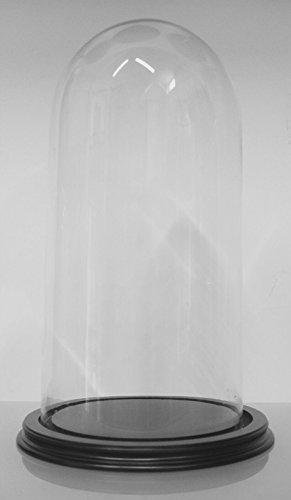 Euro Glass Angelo Campane di Vetro con Supporto in Legno Misura 20 x 40
