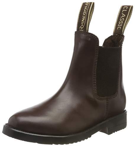 Rhinegold Comfey Unisex-Jodhpur-Stiefel für Jugendliche, braun - Größe: 32 EU
