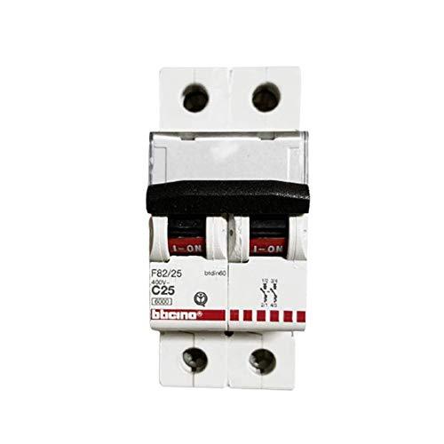 Interruptor magnetotérmico automático 2P 25 A 6 KA - Bticino Legrand F82/25
