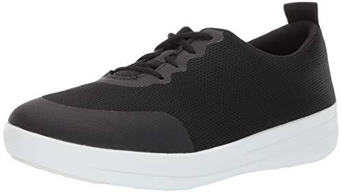 FitFlop Women's F-Sporty Ombre Sneaker, Black, 8 M US