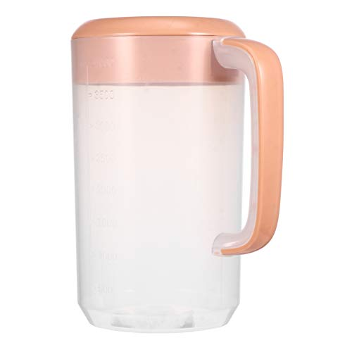 PIXNOR Plastic Pitcher, Plastic Cold Kettle Large Water Pitcher with Lid for Milk, Iced Tea, Water