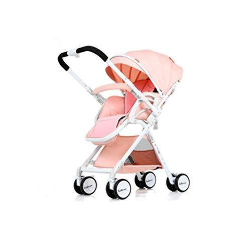 JHSHENGSHI Reise buggys, Kinderwagen & Buggys - Reisesysteme - buggys Kinderwagen für Kinder - Leichte Sitzbuggys - Mit Einkaufskorb und Sicherheitsgurt, Pink