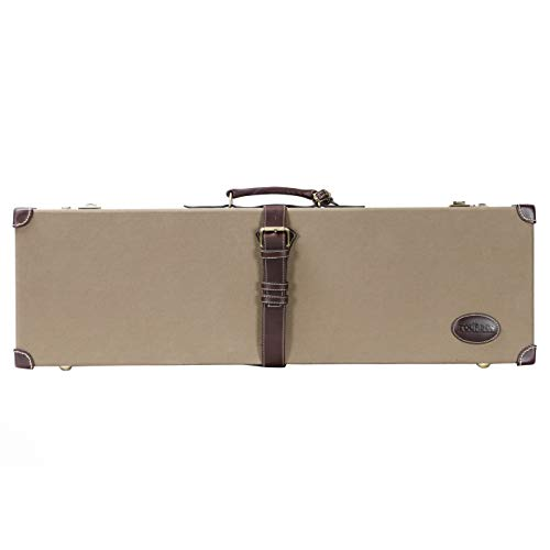 TOURBON Jagd Leinwand & Leder Heavy Duty Shotgun Box Gun Case mit Codeschloss - Grün