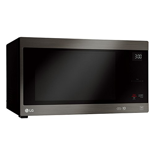 LG 1.5 Cu. Ft. Neochef Countertop Microwave Oven, 20 x 12 x 16 inches, Black Stainless Steel