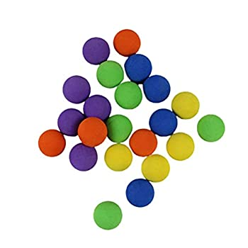 Moanyt 100 Pcs Refill Balls Soft EVA Foam Ball Refills Foam Blasters Replacement Foam Bullet Ball Outdoor Sports Ball Toy for Children Kids Approx 1 Inch in Diameter