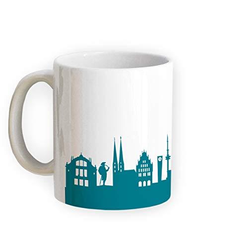 Tasse Bielefeld Skyline - Bürotasse Kaffeebecher Städtetasse 5 Farben - Personalisierte Geschenkidee für Bielefelder & Fans, Umzug Richtfest Architekt