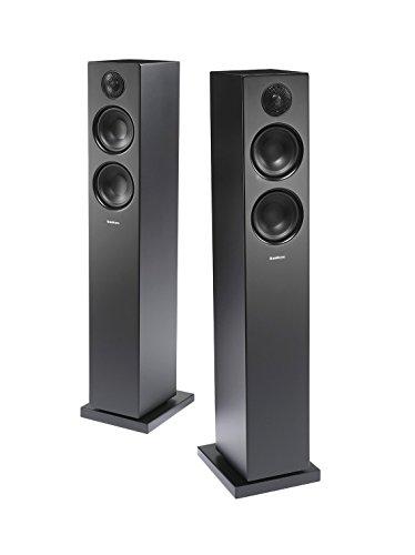 Audio Pro Addon T20 Aktive Standlautsprecher mit Bluetooth (1 Paar mit Aluminium-Fernbedienung, 2 x 60W) Schwarz