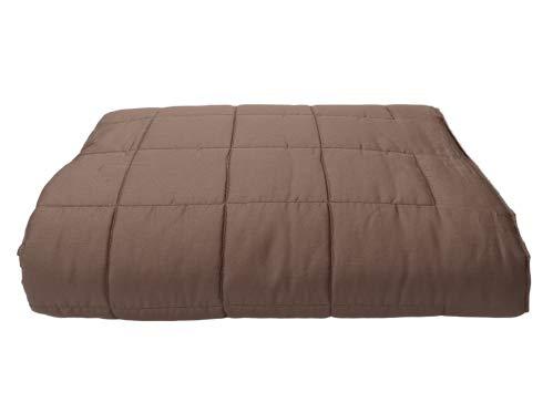Somma The Jewel - Colcha de raso para cama de matrimonio, color pardo 567