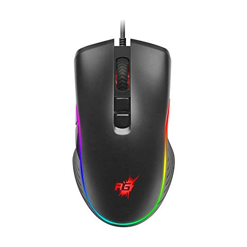 Redgear A-20 Wired Gaming Mouse with RGB and Upto 4800 dpi for Windows PC Gamers.